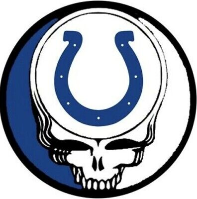 $4 • Buy 3 Indianapolis Colts Grateful Dead 3x3 Waterproof Vinyl Stickers Car Decals