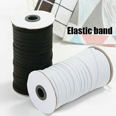 $ CDN15.22 • Buy 100/200 Yards Length DIY Braided Elastic Band Cords Knit Band Sewing 1/8-1/4 In