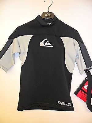 $24.99 • Buy QUIKSILVER Men's SYNCRO .5mm S/S WETSUIT Top - BGY - Small - NWT