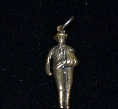 Vintage Sterling Silver Wounded Soldier Charm / Pendant (not Scrap) • 20£