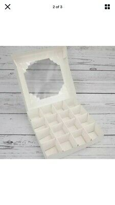 £10.99 • Buy *sale* L@@k* 10 X  Empty White Sweet Boxes With Acetate Window, With Inserts New