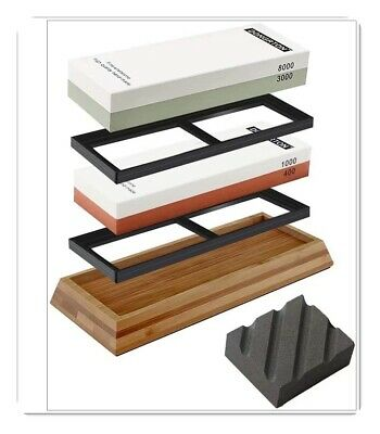 $55.99 • Buy DONGRTON Knife Sharpening Stone Kit Premium Japanese Whetstone Set 400/1000 3000