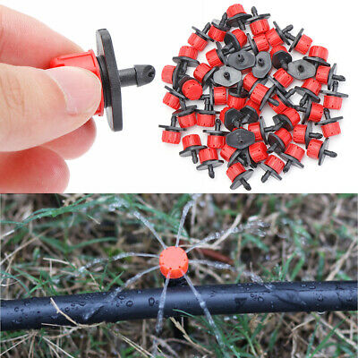 Micro Drip Irrigation System Watering Sprinklers Plant Emitter Drippers Garden  • 4.09£