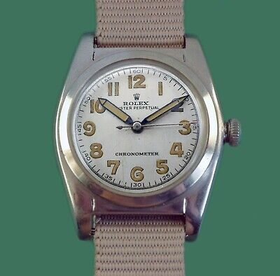 $ CDN4071.74 • Buy Vintage 1945 Rolex Bubble Back Oyster Perpetual Chronometer Military Watch 2940