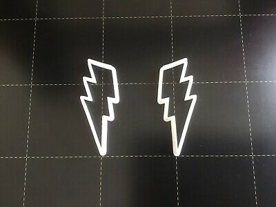 Polymer Clay Cutters - Jewellery Making Lightning Bolt Mirrored. • 3.50£