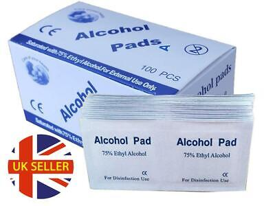 ALCOHOL 75% Swabs Wipes Pads Tattoo Nail CPU Lock Antiseptic Cleanser Cleaning • 7.99£
