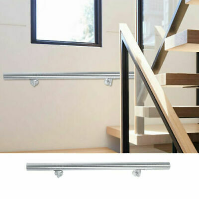 £31.84 • Buy Stainless End Caps Handrail, Home Office Stair Hand Rail Staircase Railing