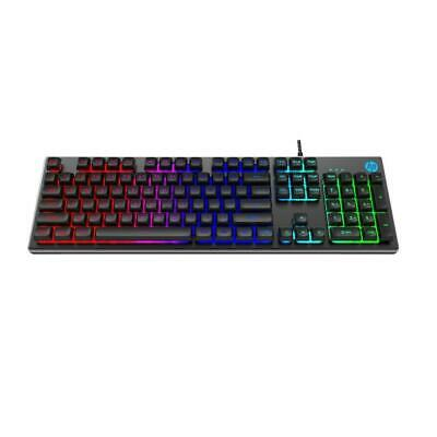 AU52.99 • Buy HP K500F Gaming Keyboard - Metal Panel And Rainbow LED Backlit