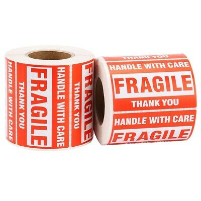 AU17.99 • Buy 1 Roll/500Pcs Fragile Warning Sticker Handle With Care Keep Dry Express La C5M2
