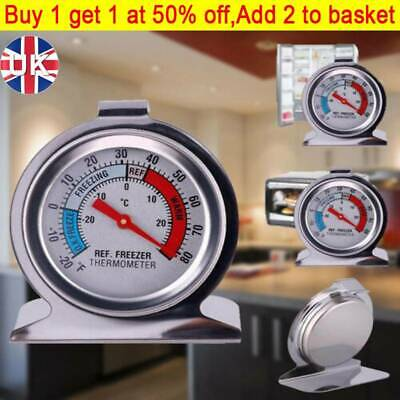 Stainless Steel Refrigerator Freezer Thermometer Dial Temperature Gauge TA • 4.79£