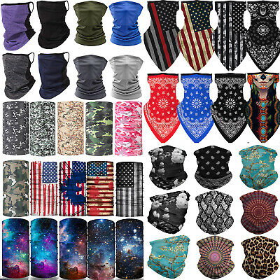 $10.98 • Buy Balaclava Neck Gaiter Bandana Tube Scarf Half Face Mask Cover Reusable Ear Loops