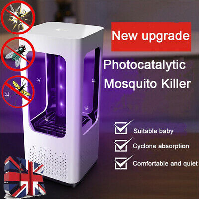 UK Electric Fly Bug Zapper Mosquito Insect Killer LED UV Light Trap Lamp Catcher • 10.99£