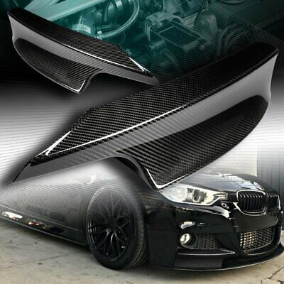 AU131.02 • Buy Real Carbon Fiber M-sport Front Bumper Splitter Lip Fit 12-18 Bmw F30 3-series