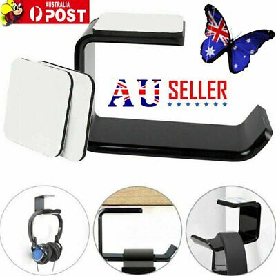 AU8.95 • Buy Headphone Stand Hanger Holder Dual Headset Tape Under Desk Hook Clever Mount KC