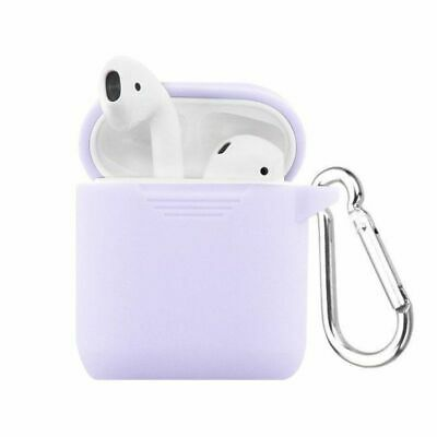 $ CDN10.29 • Buy Silicone Protective Case With Carabiner And Strap For AirPods Purple
