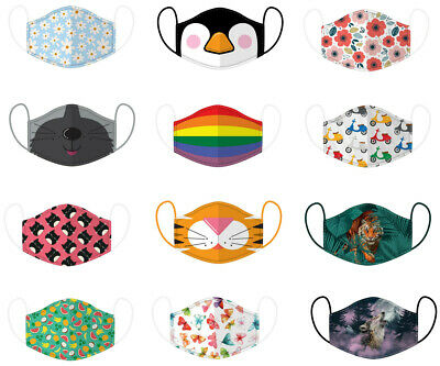 £3.95 • Buy Adult Reusable Breathable Washable Adjustable Patterned Face Covering Mask Bnwt