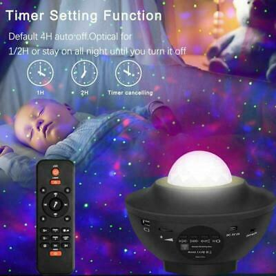 Galaxy Star Night Lamp LED Starry Night Light USB Ocean Wave Projector W/ Music • 20.80£