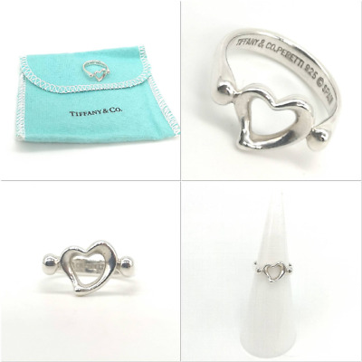 Authentic! Beautiful  Tiffany & Co Elsa Peretti  Open Heart Ring Size G • 104.99£
