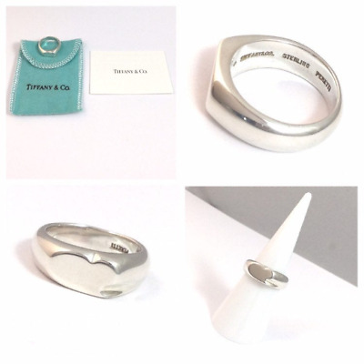 Authentic And Rare! Beautiful Silver Tiffany & Co Elsa Peretti Curved Heart Ring • 110.99£
