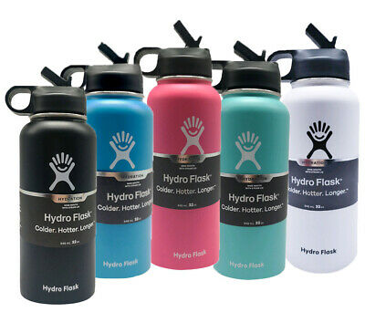 $31.60 • Buy Hydro Flask 32OZ. Water Bottle Stainless Steel & With Straw Lid - 6 Color Select