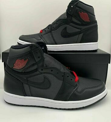 $129.97 • Buy Nike Air Jordan 1 Retro High OG  Black Satin  Red Shoes 555088-060 Mens Bred