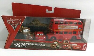 $ CDN51.02 • Buy NIB Disney Cars 2 Character Stars 3 Pack Mater McQueen Double Decker Bus