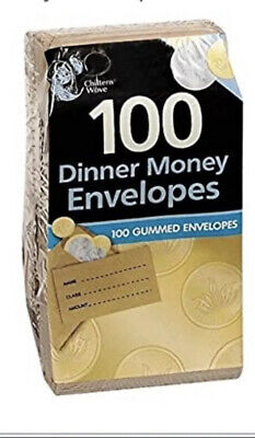£2.95 • Buy Small Brown School Wages Petty Cash Dinner Money Seeds Envelopes Plain & Printed