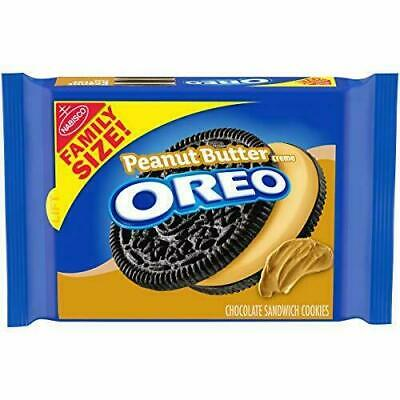 Oreo Oreo Peanut Butter Creme Chocolate Sandwich Cookies Family Size Package • 10.79£