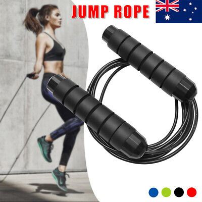 AU10.95 • Buy Gym Skipping Rope Fitness Speed Jump Ropes Training Weight Loss Jumping Exercise