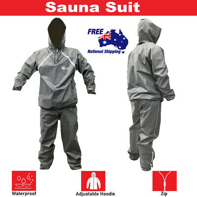 AU44.99 • Buy Sauna Sweat Suit Weight Loss Non Rip Gym Fitness Exercise Boxing Mma Eva Unisex