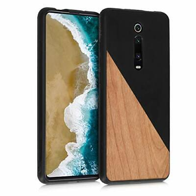 $27.99 • Buy Kwmobile Case Compatible With Xiaomi Mi 9T (Pro) Two-Tone Wood Black / Brown