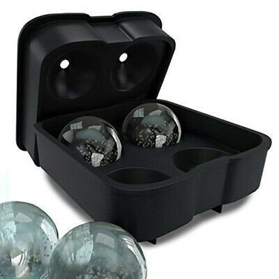 Ball Ice Cube Maker Large Tray Big Rubber Mold Sphere Whiskey DIY Round Mould UK • 8.39£