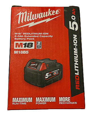 AU110 • Buy Milwaukee 18v 5ah Battery Genuine AU Stock  M18B5