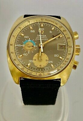 $ CDN2233.03 • Buy Omega Vintage Seamaster Watch Automatic Chronograph 176.007 Gold Plaque