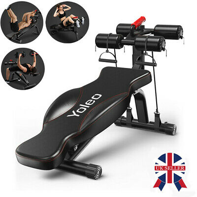 Home Fitness Folding Flat Weight Lifting Bench Body Workout Exercise Machine • 118.55£