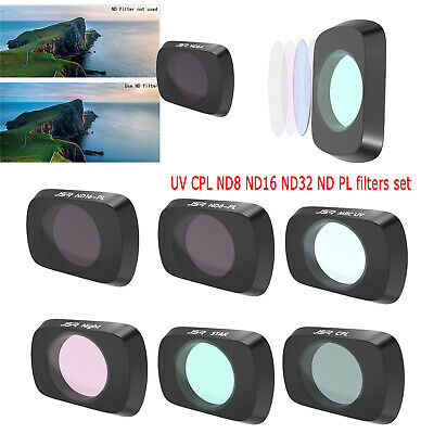 AU88.34 • Buy For DJI Mavic Air 2 Drone Lens Filters UV CPL ND8 ND16 ND32 ND PL Filters Set