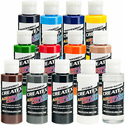£50.70 • Buy Createx 12 COLOR SET Transparent And Opaque Airbrush Paint Colors