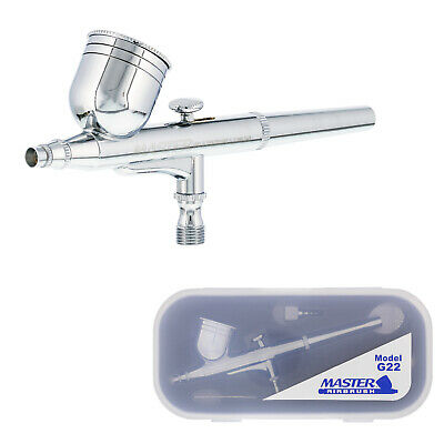 $24.96 • Buy Master G22 Dual-Action Gravity Feed Airbrush Set Kit 0.3mm Tip, Hobby Auto Cake