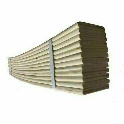Replacement Sprung Wooden Bed Slats 2ft,Single,Double 4.6 ,King Size,63mm Width  • 33.99£