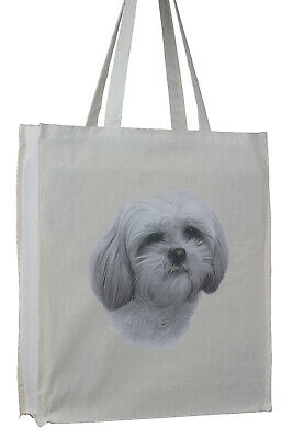 £10.99 • Buy Adorable Shih Tzu Breed Of Dog Cotton Bag & Gusset Xtra Space Perfect Gift