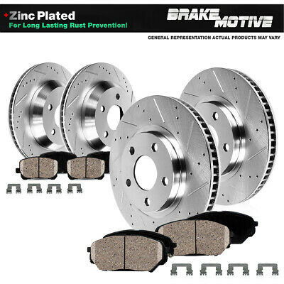 $186.93 • Buy Front & Rear Drill Slot Brake Rotors And Ceramic Pads For 2005 - 2012 Acura RL