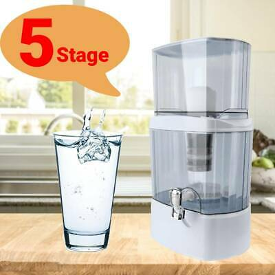 £33.99 • Buy 24L Water Purifier 5 Stage Filter Pure Drinking Water Filtration System With Tap