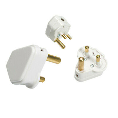 15A / 15 Amp White Round 3 Three Pin Electrical Plug Top Unfused BS536- FREE P&P • 6.74£