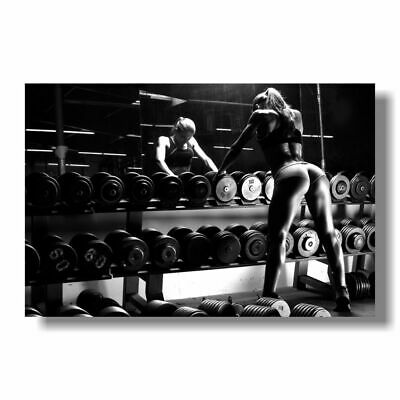 Bodybuilding Motivational Art Silk Poster Fitness Exercise Wall Pictures For Gym • 8.99£
