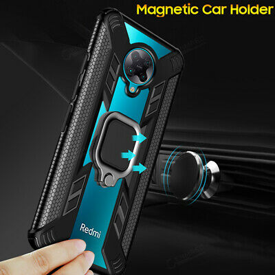 AU4.97 • Buy For Xiaomi POCO F2 Pro Shockproof Fashion Clear Case Magnetic Ring Stand Cover