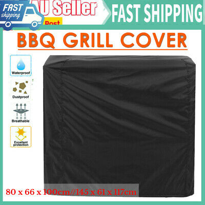 AU22.68 • Buy 2 Size Burner BBQ Cover Waterproof Outdoor Gas Charcoal Barbecue Grill Protector