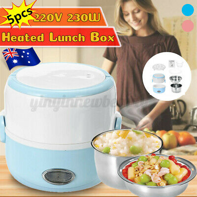 AU24.99 • Buy AU 1.3L 2 Layers Electric Lunch Box Storage Steamming Container Steam Heating
