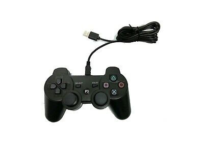 PS3 Black Double Vibration Wired Controller  • 11.45£