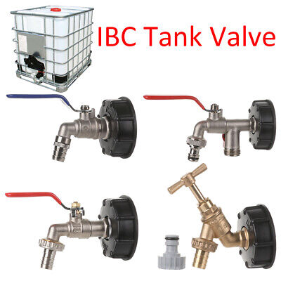 IBC Adapter Connector Water Tank Valve 1/2in 3/4in Garden Supplies Hose Fitting • 8.19£