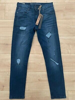 Brand New RINGSPUN MENS Distressed Jeans - SKINNY FIT W32 L30 - TAGGED - RRP £50 • 20£
